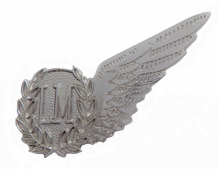 Loadmaster Royal Air Force RAF MOD Single Wing Nickel Pin Badge / Brevet